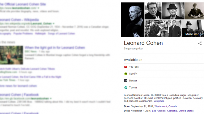 Reviews now included in Google Knowledge Panel