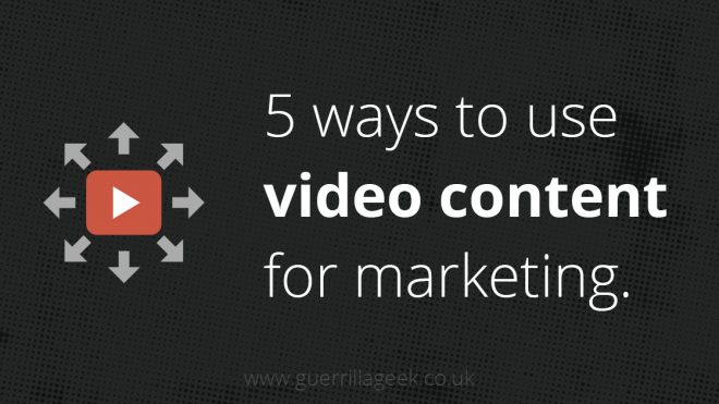 Five ways to use video for content marketing